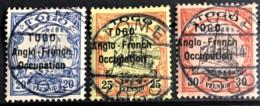 TOGO 1914 - Canceled - YT 35(B)-37(B) - 20pf 25pf 30pf - Used Stamps