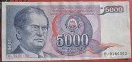 5000 Dinara 1985 (WPM 93A) - Jugoslawien