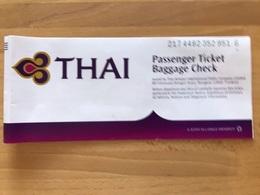 THAI AIRWAYS TICKET 09MAR08 BKK SUVARNABHUMI MUNICH - Tickets