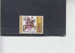GRAN BRETAGNA  1971 - Unificato  644° -  Anniversari - Fauna - Cavallo - Gebruikt