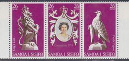 Samoa Mandat  N° 410 / 12 XX 25è Anniversaire Du Couronnement De S. M. Elisabeth II, Le Triptyque Sans Charnière, TB - Samoa