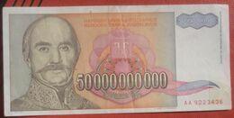50000000000 Dinara 1993 (WPM 136A) 50 Milliarden / 50 000 000 000 - Jugoslawien