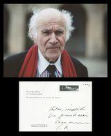 Pierre Rosenberg - Académicien Français - Carte Autographe Signée - 2003 + Photo - Handtekening