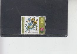 GRAN BRETAGNA  1971 - Unificato  645° -  Anniversari - Sport - Rugby - Gebruikt