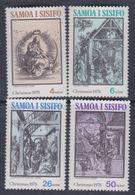 Samoa Mandat  N° 428 / 31 XX Noël, Les 4 Valeurs Sans Charnière, TB - Samoa