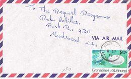 37153. Carta Aerea SANDY (St. Vincent Y Granadines) 1978 To Montserrat - St.Vincent Y Las Granadinas