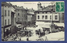CPA AIN (01) - MONTLUEL - PLACE CARNOT - LE MARCHE - Montluel