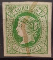 SPAIN 1864 - Canceled - Sc# 63 - 12c - Oblitérés