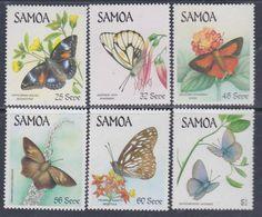 Samoa Mandat  N° 597 / 502 XX Faune : Papillons, Les 6 Valeurs Sans Charnière, TB - Samoa