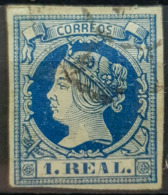 SPAIN 1860/61 - Canceled - Sc# 53 - 1R - Oblitérés