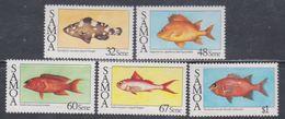 Samoa Mandat  N° 616 / 20 XX Faune : Poissons, Les 5 Valeurs Sans Charnière, TB - Samoa