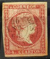 SPAIN 1855 - Canceled - Sc# 37a - 4c - Oblitérés