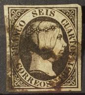SPAIN 1851 - Canceled - Sc# 6 - 6c - Oblitérés