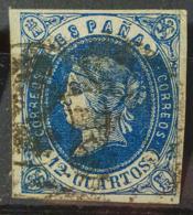 SPAIN 1862 - Canceled - Sc# 57 - 12c - Oblitérés