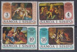 Samoa Mandat  N° 345 / 48 X Noël Les 4 Valeurs Trace De Charnière Sinon TB - Samoa