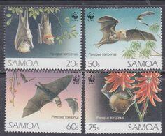 Samoa Mandat  N° 763 / 66 XX Protection De La Faune : Chauves-souris Les 4 Valeurs Sans Charnière, TB - Samoa