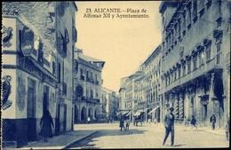 Cp Alicante Valencia Spanien, Plaza De Alfonso XIII Y Ayuntamiento - Sonstige