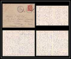 1560/  France Entier Enveloppe Militaire Lac 4 Pages Semeuse 10c Ceyzériat Ain Pour Fontenay-le-Comte Vendé 1907 - Biglietto Postale