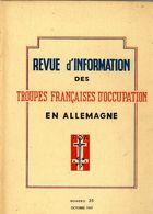 REVUE D INFORMATION DES TROUPES FRANCAISES D OCCUPATION EN ALLEMAGNE   1947    N° 25  -  64 PAGES  -  NOMBREUSES ILLUSTR - Revues & Journaux