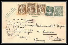 2350/ Belgique (Belgium) Entier Stationery Carte Postale (postcard) N°167 + Complement Poissons Haute Marne France - Cartes Postales [1934-51]