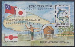 "Samoa BF N° 25  XX ""Philatokyo'91"" Expo. Philatélique Internationnal, Le Bloc Sans Charnière, TB - Samoa"