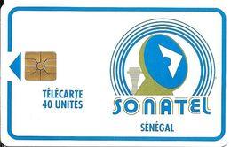 CARTE-PUCE-SENEGAL-40U-GEMB-SONATEL-V°Sans N°-UTILISE-TBE/RARE - Senegal