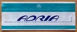 ADRIA AIRWAYS TICKET 11AUG97 LJUBLJANA VIENNA BUDAPEST VIENNA LJUBLJANA - Tickets