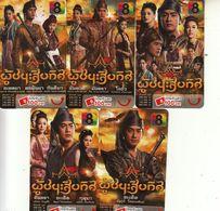 5 X Thailand Phonecard Happy DPrompt Movie Film Cinema Anime Manga - Film