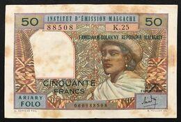 MADAGASCAR Madagascar  50 Francs  1969  Pick#61 LOTTO 1617 - Madagascar