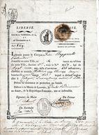 1803 Départ. De La DYLE (Départ. Conquis) PASSEPORT Pour Jean STAPPAERTS, Conscrit De L'an 11 Pour COLOGNE, LUXEMBOURG.. - Documentos Históricos