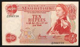 Mauritius 10 Rupees 1967 Pick 31c LOTTO 1574 - Mauricio