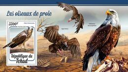 CHAD 2020 - Birds Of Prey, Skeletons S/S. Official Issue [TCH200203b] - Fossils