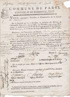 1794 PARIS - CERTIFICAT DE RESIDENCE  Section De BRUTUS Pour François GUENNCHAU, Conducteur De Diligence Et - Historische Documenten