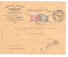 REF1490/ TTx 35-44 C.BXL 15/4/1932 S/L.non Affranchie C.BXL 15/4/1932 Annotations à Détaxer & Taxe Remboursée > BXL - Portomarken