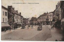 LIVRY-GARGAN - Place De La Fontaine (Magasin Félix Potin, Le Familistère, Publicité Olympiades  Allemagne) - Livry Gargan