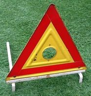 Ancien Triangle De Signalisation Pour Automobile. Métal Agrée IP-PS-37l (340x340x340)mm - Cars