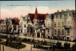 Cp Metz Moselle, Avenue Maréchal Foch - Other Municipalities