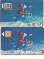 Télécartes Patineuse 2 F161 Et F162 1991 - France