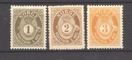 Norvège  :  Yv   46-48  *  Dentelé 14 1/2 X 13 1/2 - Norvège