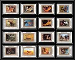 0073/ Ajman Deluxe Blocs ** MNH Michel N° 2685 / 2700 Animaux - Animals Mammals Tirage Blanc Elephant Monkeys - Stamps
