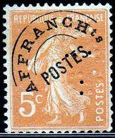FRANCE, Timbre Préoblitéré Avec Perfin - Perforés
