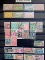 CAMEROUN.1925 à 1938. N°106 à 148 .Lot De 16 Neufs + 14 Oblitérés . Côte Yvert  51,75 €. - Neufs