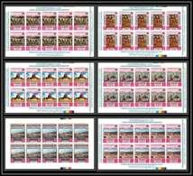 Yemen Royaume (kingdom) - 4145 N°810/815 B Holy Sites Jerusalem Israel Palestine ** Mnh Feuille Sheet Non Dentelé Imperf - Jewish