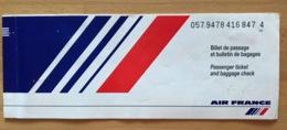 AIR FRANCE TICKET 27OCT97 NICE VENICE - Tickets