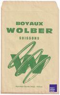 Rare Pochette Papier Boyaux Wolber à Soissons - Thèmes Publicité Vélo Cycle Cycliste Sport Pneu Pneumatique Ephemera GF1 - Old Paper