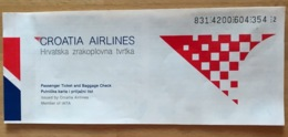 CROATIA AIRLINES TICKET 11JUL98 ROME SPLIT ROME - Tickets