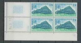 1304 - France - Coin Daté TB Neuf ** Service Conseil De L'europe N°59 Date 21/9/1978 2 Traits Sans Trait - Servicio