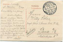 ALLEMAGNE CARTE DE FRANCHISE MILITAIRE  AVEC CACHET FELDPOSTEXPEDITION DER. 1  23-3-15 ( K. S; ) JNF. DIV. N°23 - WW1