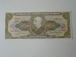 J596.2 Brazil  5 Cruzeiros  Paper Money - Brésil