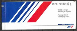 FRANCE PASSENGER AIR TICKET AIR FRANCE - Tickets